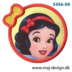 Disney Prinsesse Snehvide Ø 5,5 cm. Broderet strygemærke