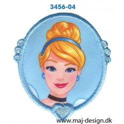 Disney Prinsesse Askepot Ø 7 cm. Broderet strygemærke