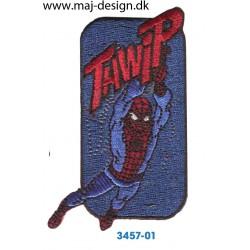 Spider-man Tawip 8,5x4,5 cm. Broderet strygemærke