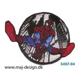 Spider-man Ø 5,5 cm. Broderet strygemærke