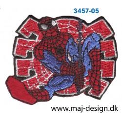 Spider-man 5x7 cm. Broderet strygemærke