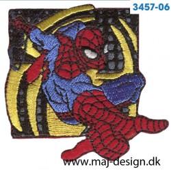 Spider-man 6,5x6 cm. Broderet strygemærke