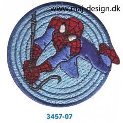 Spider-man Ø 6,5 cm. Broderet strygemærke
