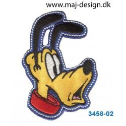 Disney Pluto 7x4,5 cm. Broderet strygemærke