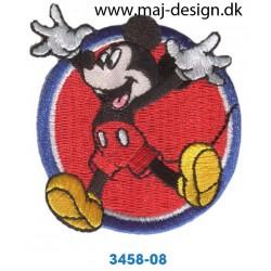 Disney Mickey Mouse Ø 6 cm. broderet strygemærke