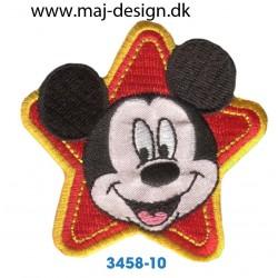 Disney Mickey Mouse 6,5 cm. Broderet strygemærke