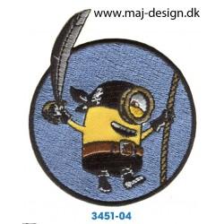 Minions Pirat Ø 6,5 cm.