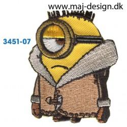 Minion med jakke 6x5 cm.