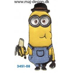 Minions med banan og hat 8x3 cm.