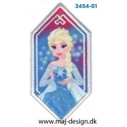 Frozen Elsa 8,5x4,5 cm. Broderet strygemærke