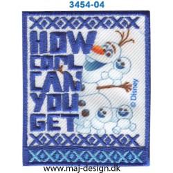 Frozen Olaf 7x6 cm. Broderet strygemærke