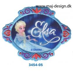 Frozen Elsa 6,5x8 cm. Broderet strygemærke