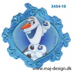 Frozen Olaf 6,5 cm. Broderet strygemærke