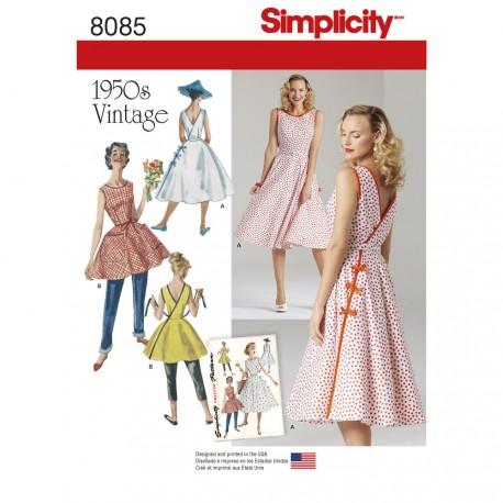Vintage kjole 1950èrne snitmønster