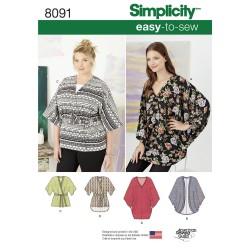 Kimono også plusmode snitmønster