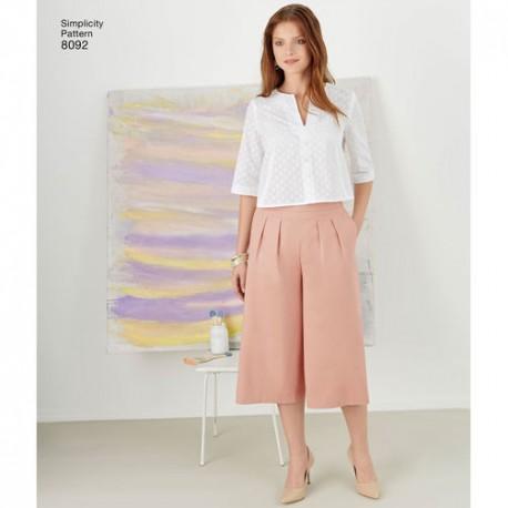 Nederdel og bukser Snitmønster