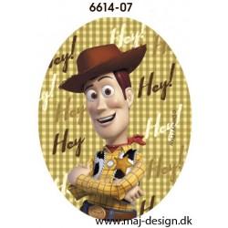 Toy Story Woody Hey printet strygelapper 11x8 cm
