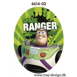 Toy Story Buzz printet strygelapper 11x8 cm