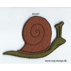 Snegl 7x4,5 cm strygemærke