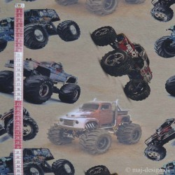 Monster Truck Digital Print Jersey metervare