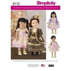 Dukketøj, kjole, corsage og jakke snitmønster