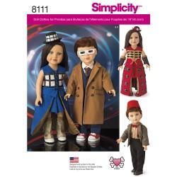 Dukketøj, Dukke kostume 45,5 cm dukke snitmønster