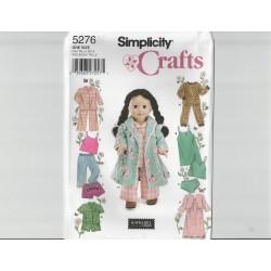 Dukketøj til 45,5cm dukke Simplicity snitmønster