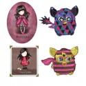 Gorjuss og Furby - Strygemærker med Gorjuss Santoro og Furby, alle strygemærker er Oeko-Tex