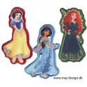 Disney prinsesser - Disney prinsesser, strygemærker og strygelapper, Strygemærker og lapper bruges til at stryge på tøjet som pynt eller dekoration, eller for at dække over huller,